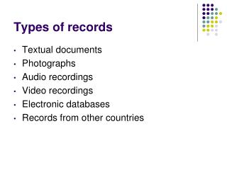 Types of records