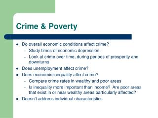 Crime & Poverty