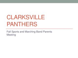 Clarksville panthers