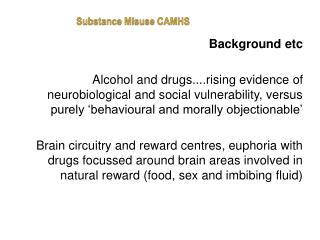 Substance Misuse CAMHS