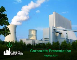 Corporate Presentation August 2014