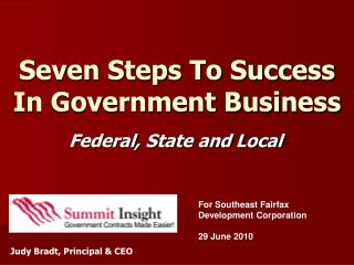 Seven Steps To Success  In Government Business