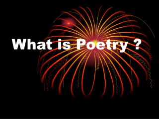 What is Poetry ?