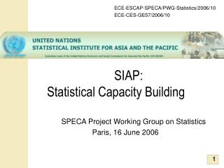 SIAP:  Statistical Capacity Building