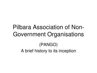 Pilbara Association of Non-Government Organisations
