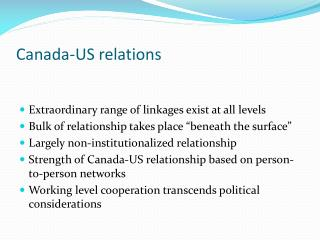 Canada-US relations