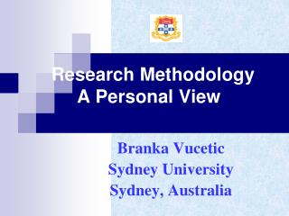Research Methodology       A Personal View