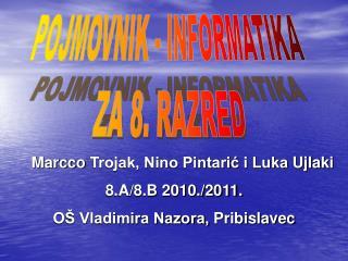 POJMOVNIK - INFORMATIKA  ZA 8. RAZRED