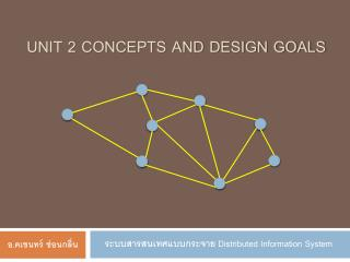 Unit 2 Concepts and Design goals