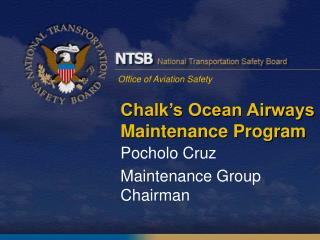 Chalk's Ocean Airways Maintenance Program