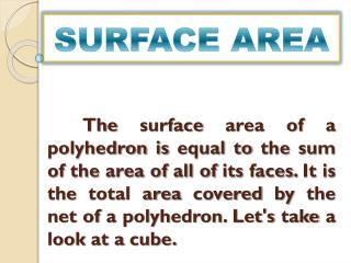 SURFACE AREA