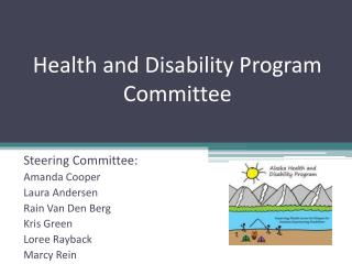 Health and Disability Program Committee