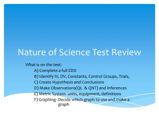 Nature of Science Test Review