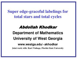 Super edge-graceful labelings for total stars and total cycles