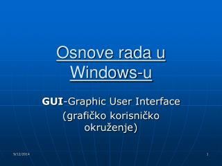 Osnove rada u Windows-u