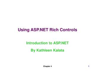 Using ASP.NET Rich Controls