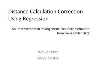 Distance Calculation Correction Using Regression