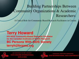 Building Partnerships Between Community Organizations & Academic Researchers:
