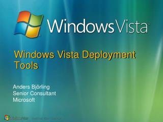 Windows Vista Deployment Tools
