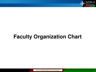 Faculty Organization Chart