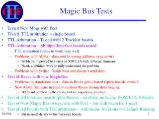 Magic Bus Tests
