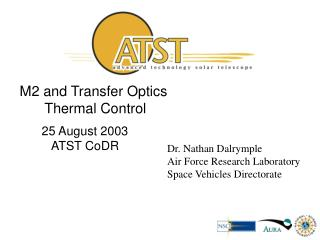 M2 and Transfer Optics  Thermal Control