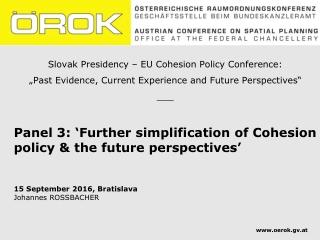 Slovak Presidency – EU Cohesion Policy Conference: