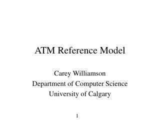 ATM Reference Model