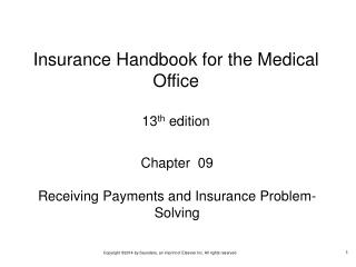 Chapter  09 Receiving Payments and Insurance Problem-Solving