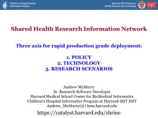 Shared Health Research Information Network
