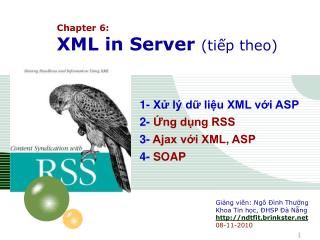 Chapter 6:  XML in Server  (tiếp theo)