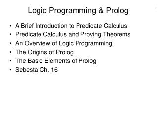 Logic Programming & Prolog
