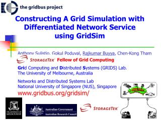 Constructing A Grid Simulation with Differentiated Network Service  using GridSim
