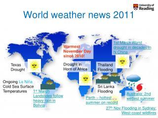 World weather news 2011