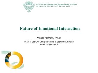 Future of Emotional Interaction