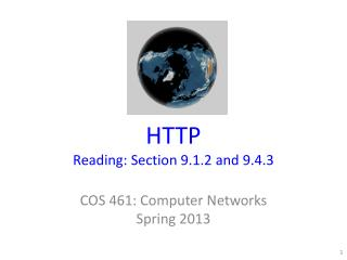 HTTP Reading: Section 9. 1 .2 and 9.4.3