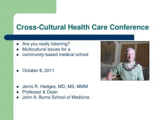 Cross-Cultural Health Care Conference