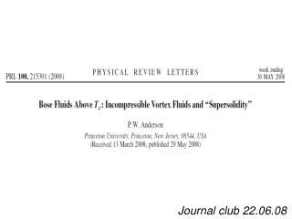 Journal club 22.06.08