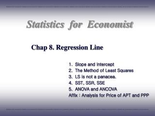 Chap 8. Regression Line