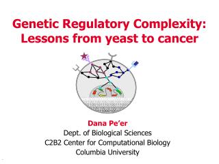 Genetic Regulatory Complexity: Lessons from yeast to cancer