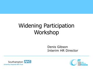 Widening Participation Workshop