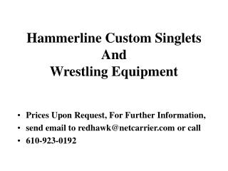 Hammerline Custom Singlets And Wrestling Equipment