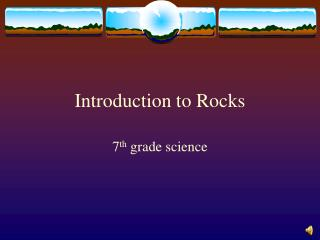 Introduction to Rocks