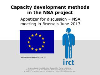 Capacity development methods in the NSA project