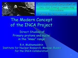 XIII International Symposium on Very High Energy Cosmic Ray Interactions