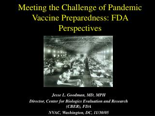 Meeting the Challenge of Pandemic Vaccine Preparedness: FDA Perspectives