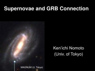 Supernovae and GRB Connection