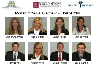 Masters  of Nurse Anesthesia - Class of  2014