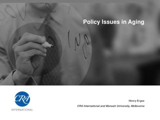 Policy Issues in Aging