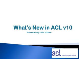 What's New in ACL v10